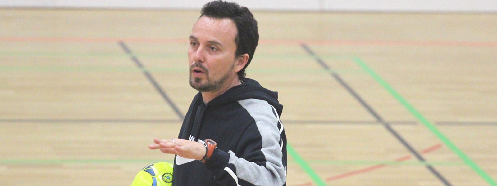 Nacho Garrido no seu primeiro treino em Münsbach