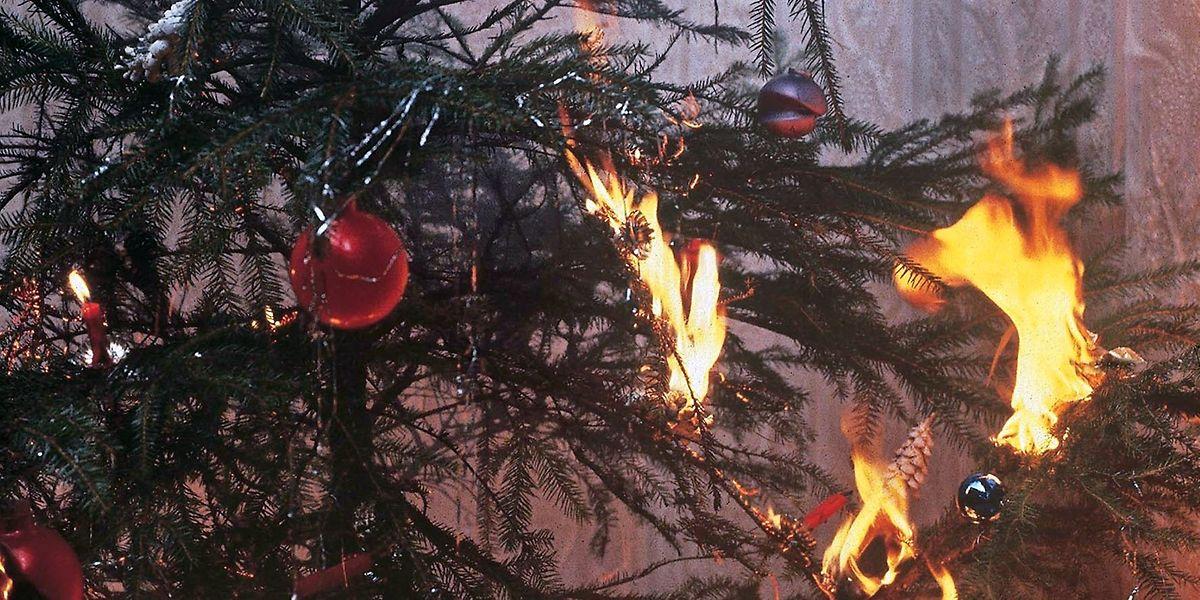 In Luxemburg hat am Samstag ein Weihnachtsbaum wie dieser gebrannt.