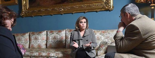 La grande-duchesse donnant une interview à l'Agence France Presse en avril 2016