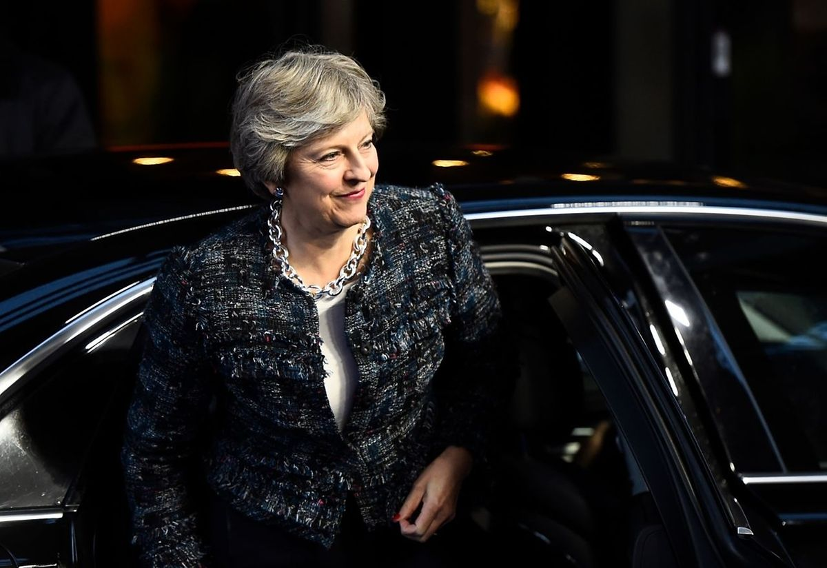 Britain's Prime minister Theresa May arrives to attend the European Social Summit in Gothenburg.
