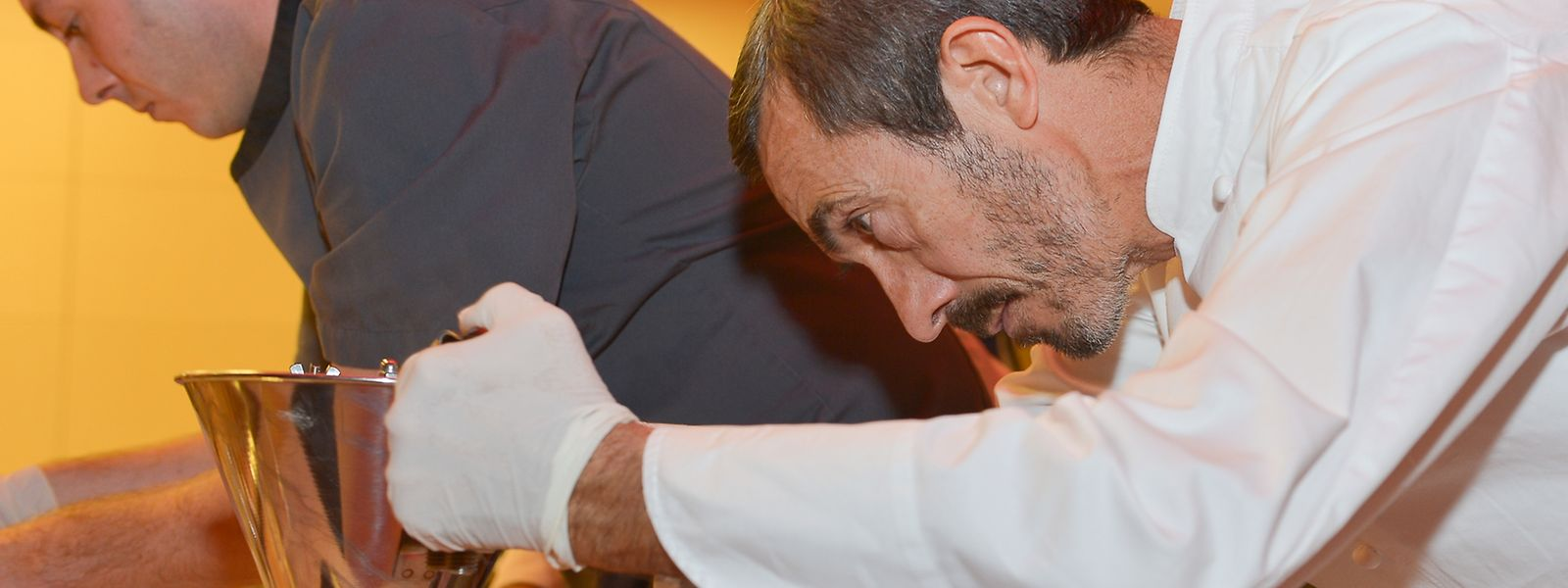 Ilario Mosconi (r.) führt ab jetzt das erste Zwei-Sterne-Restaurant Luxemburgs.