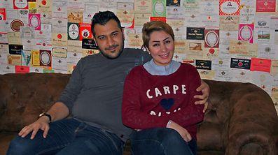 Ennas Al Sharifi and her husband Ali Sahib