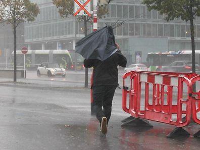 21.10.2014 Luxembourg, Kirchberg, Sturm, Wetter, Meteo, Regen,  photo Anouk Antony