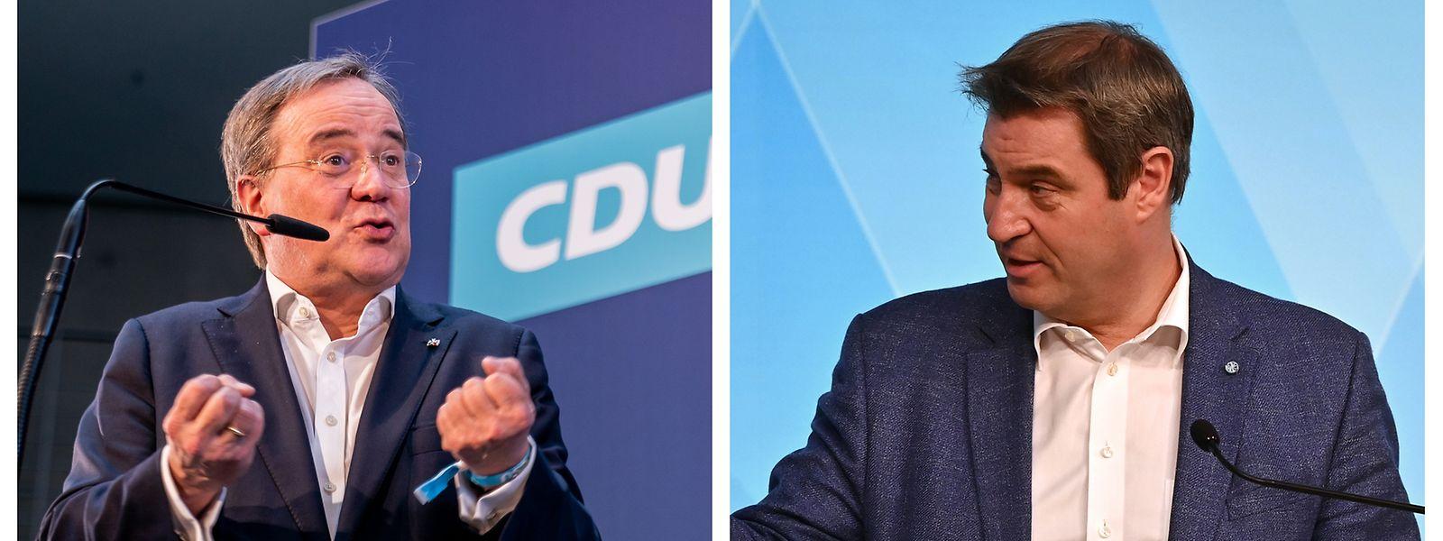 Der CDU-Bundesvorsitzende Armin Laschet tritt gegen den bayrischen Ministerpräsidenten Markus Söder an.