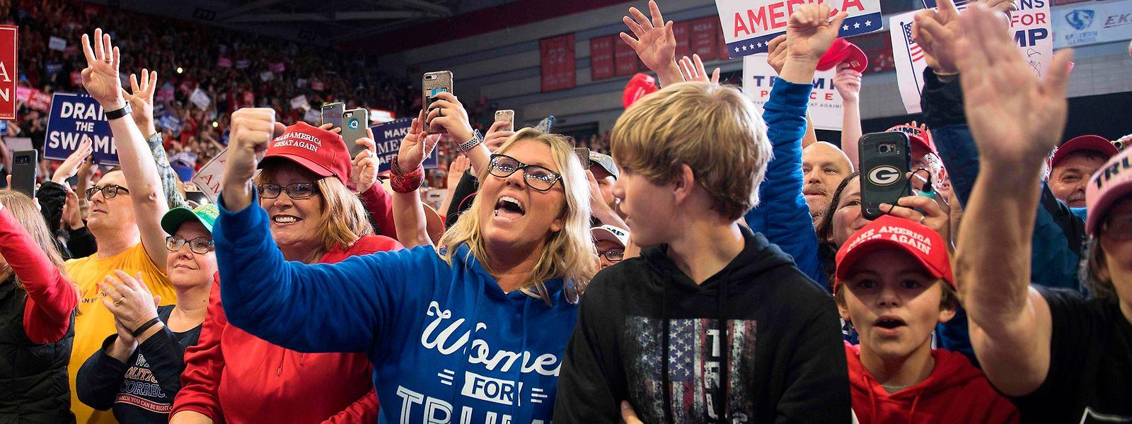 Begeisterte Trump-Anhänger im Bundesstaat Missouri.