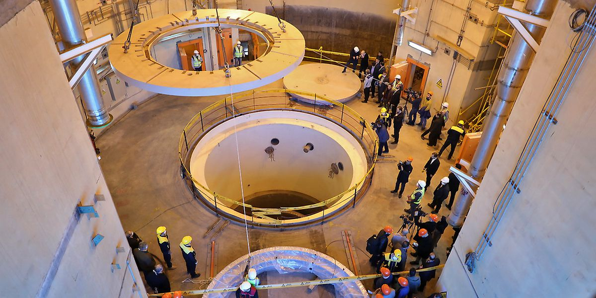 Blick in den Atomreaktor Arak im Iran.