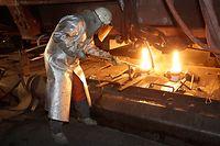 Stahlwerk von Arcelor-Mittal in Differdingen