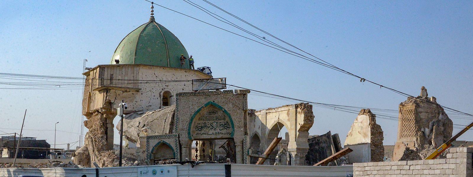 La mosquée Al-Nuri de Mossoul, où Abu Bakr al-Baghdadi s'est adressé à ses fidèles peu de temps avant la libération de la région en 2017