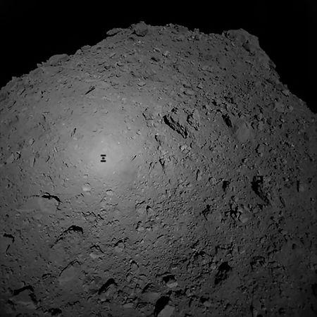 Die Sonde schickte vor der Landung Bilder vom Asteroiden.