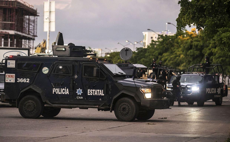 Bilder wie aus einem Bürgerkrieg in Mexico.