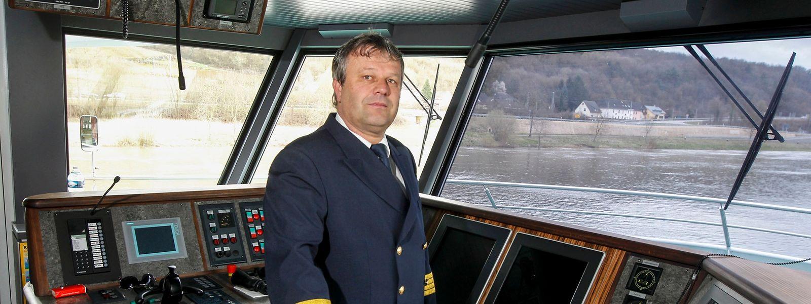 Seit November 2010 Kapitän der Princesse Marie-Astrid: Jürges Emmes.