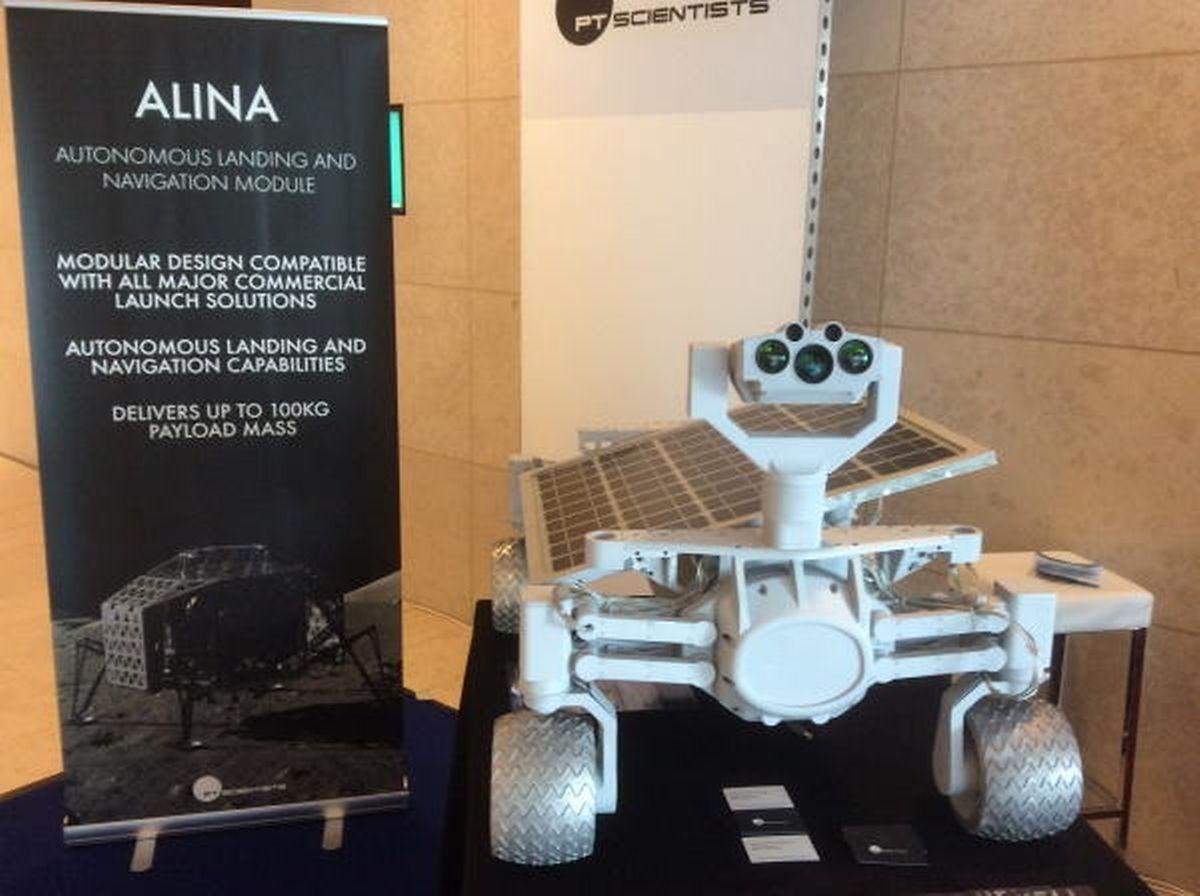 O rover lunar Alina da empresa alemã PT Scientists
