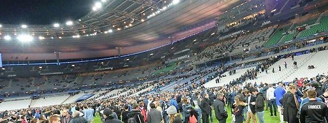 O estádio de França foi um dos alvos dos ataques