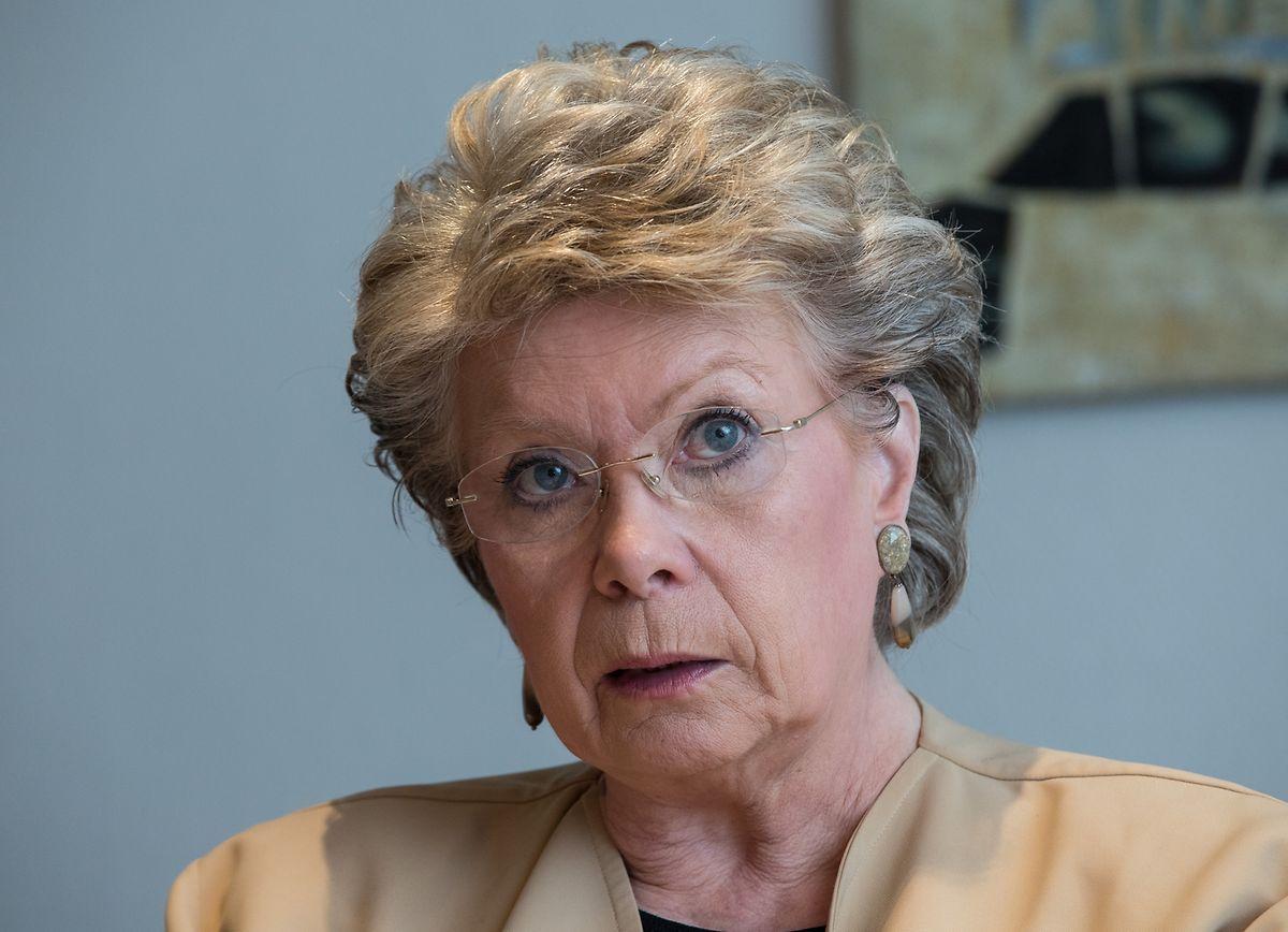 Laut Transparency International liegt Viviane Reding auf Platz 29 unter 751 EU-Abgeordneten.