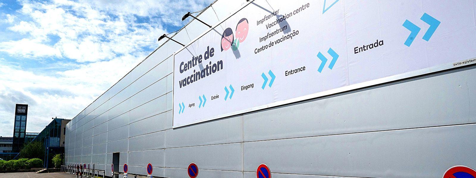 Sexto centro de vacinação covid-19 no país abriu a 19 de maio, em Kirchberg.