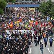 """Am Samstag um 11 Uhr startete der Protestzug """"Grenzenlose Solidarität statt G20""""."""