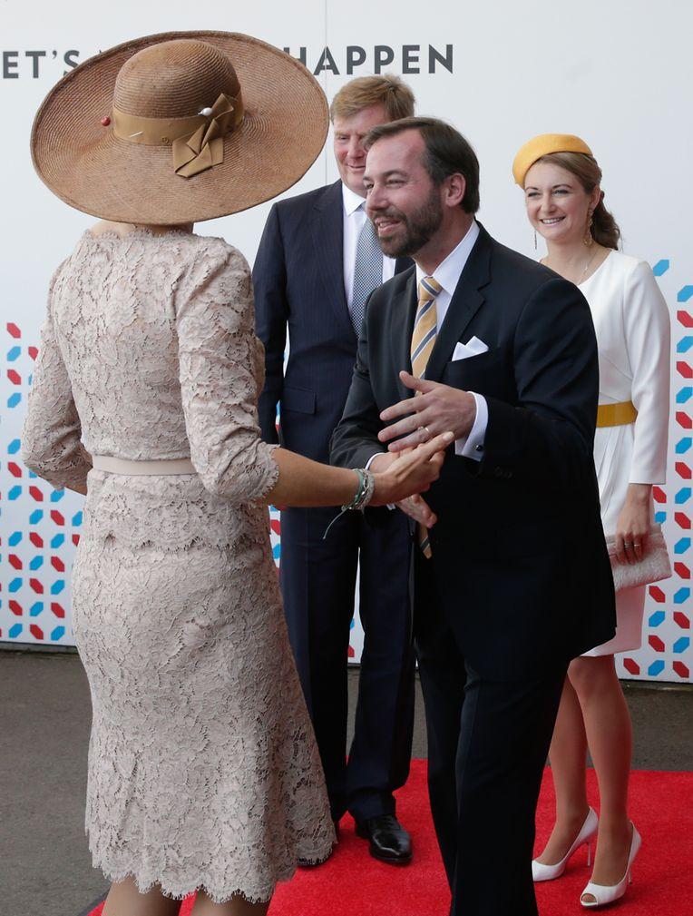 Das erbgroßherzogliche Paar hatte den hohen Besuch aus den Niederlanden  am Mittwoch am Flughafen empfangen und begleitete das Königspaar auch am Freitag zum Abschied auf den Findel.