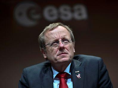 Zerknirscht: Jan Wörner, Chef der Europäischen Raumfahrtagentur ESA gab am Freitag das Scheitern der Mars-Landung bekannt.