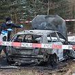 L'Audi S3 des trois braqueurs avait été retrouvée complètement calcinée dans la forêt entre Strassen et Bridel.