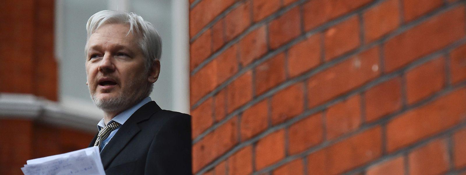 Julian Assange in seinem Exil, der Botschaft von Ecuador in London.