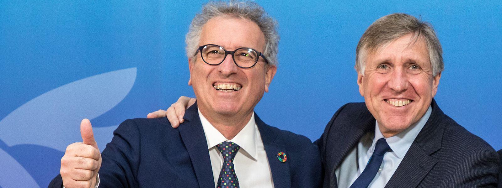 Présent aux côtés de François Bausch (Déi Gréng), Pierre Gramegna (DP), ministre des Finances a détaillé mercredi soir le pacte de redémarrage de l'économie luxembourgeoise.