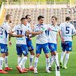 Lars Gerson (troisième en partant de la gauche) et ses coéquipiers savourent. L'IFK Norköpping a enfin trouvé sa vitesse de croisière.