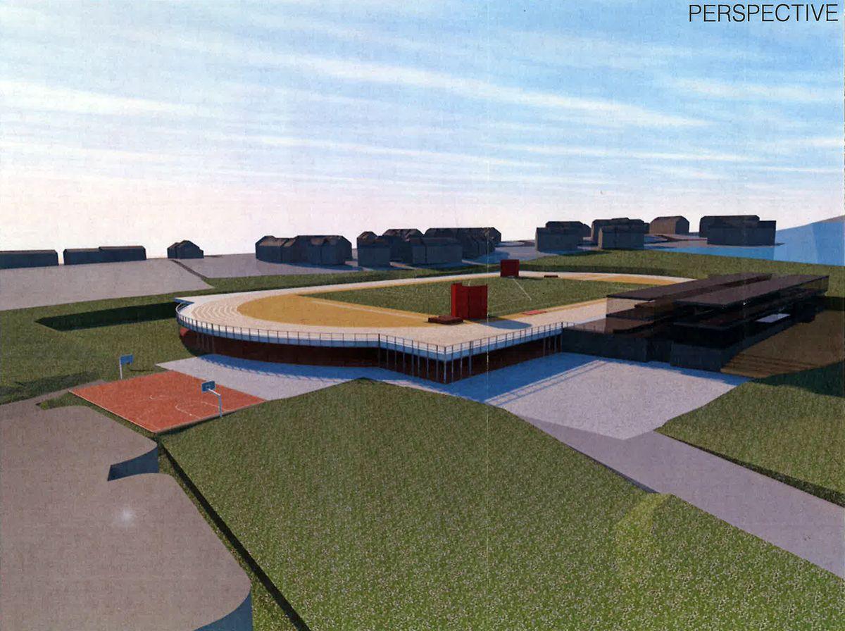 So sollte das Leichtathletikstadion aussehen.