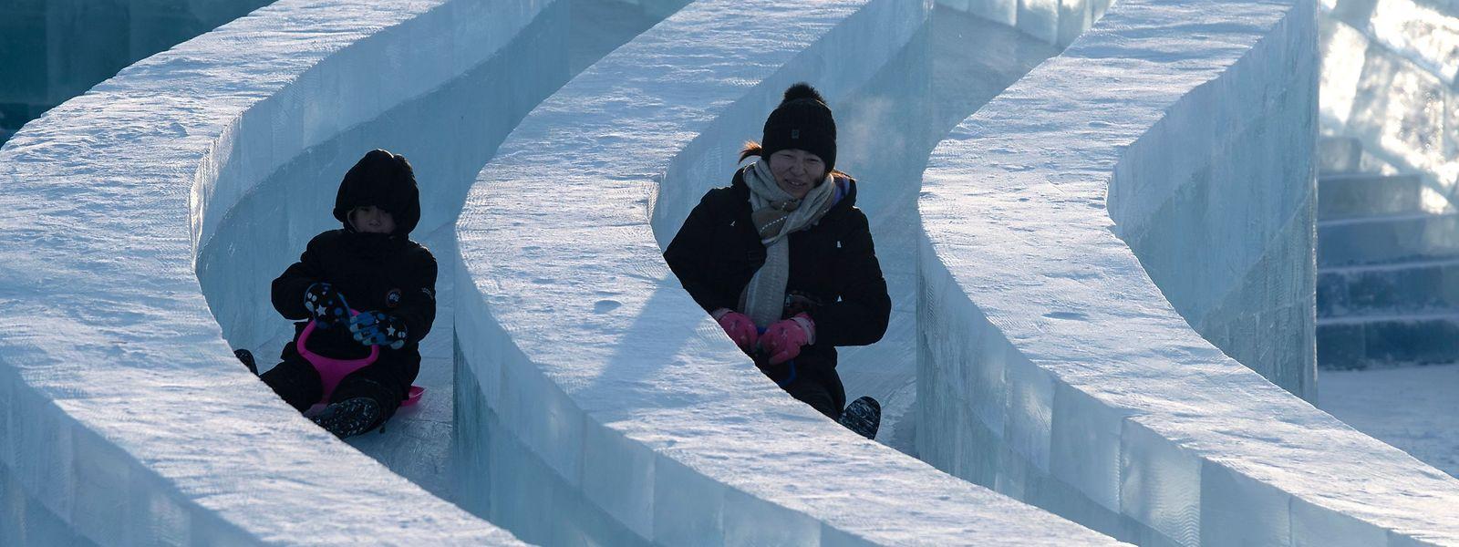 L'art de tailler la glace sait se faire ludique quand il le faut.