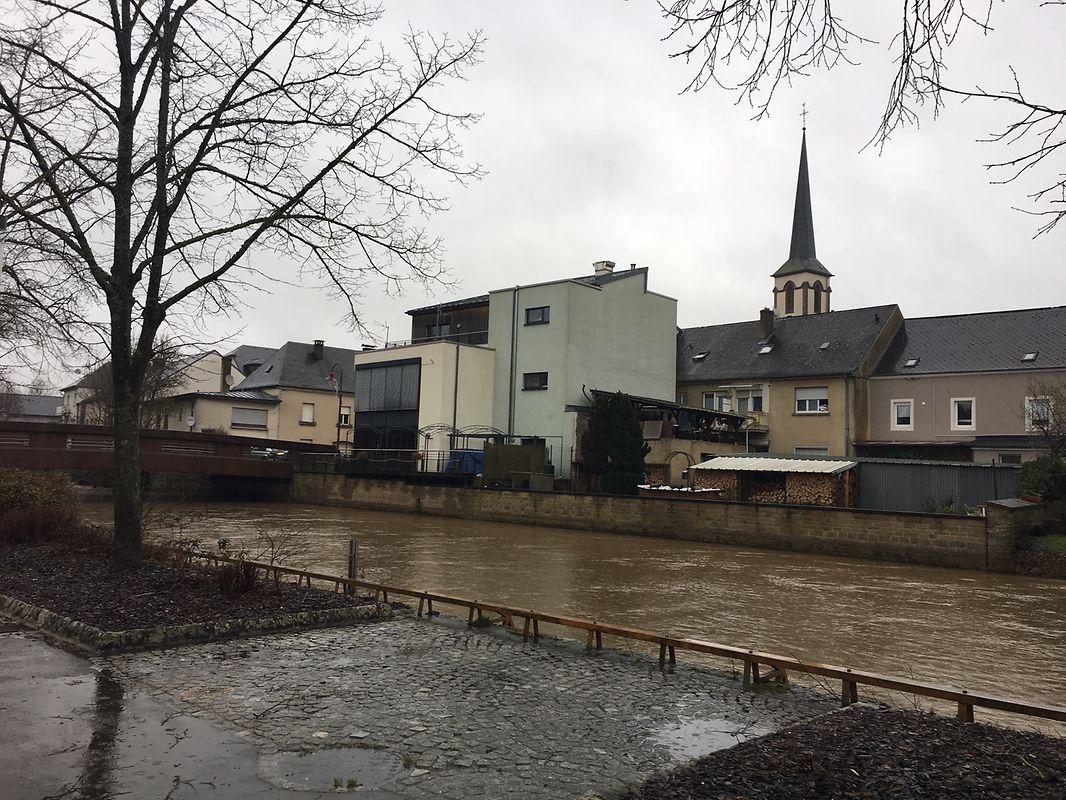 Hochwasser am Donnerstag in Bissen.