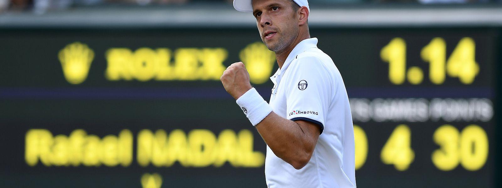 """Der Achtelfinalsieg in Wimbledon gegen Rafael Nadal war für Gilles Muller """"sehr speziell""""."""