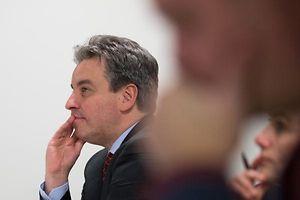 Le Ministre Claude Meisch lors de la presentation du document cadre pour l'elaboration du cours ' Vie et Societe au Ministere de la Famille, Luxembourg, 23 Mars 2015. Photo: Christophe Karaba