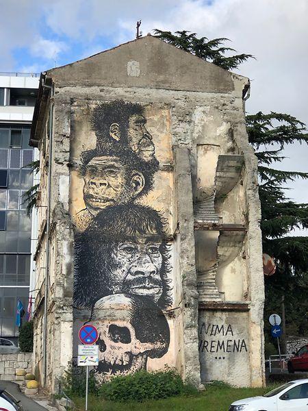 StreetArt in Rijeka - die Stadt lebt derzeit noch von ihrem etwas heruntergekommenenCharme.