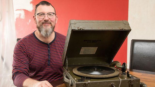 Lok , ITV Marc Miller , Besitzer Grammophon 2.Weltkrieg , Foto:Guy Jallay/Luxemburger Wort