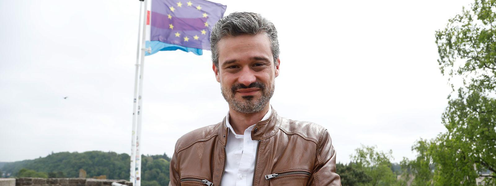 """David Wagner geht davon aus, dass seiner Partei ein Achtungserfolg bei den Europawahlen gelingen kann: """"Ein Einzug ins Parlament ist realistisch"""", sagt er."""