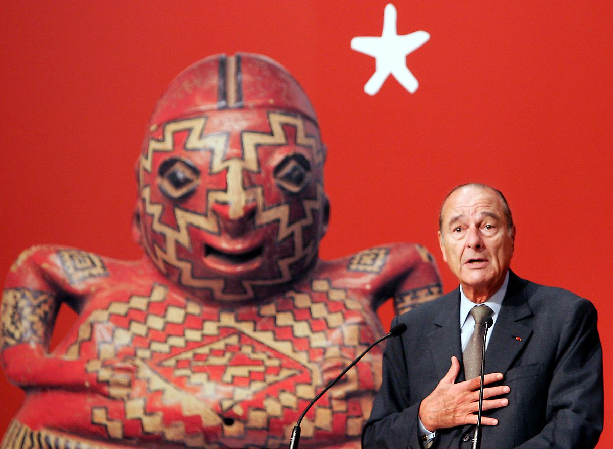 Jacques Chirac lors de l'inauguration du Musée du Quai-Branly consacré aux arts premiers.
