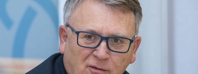 Le ministre du Travail Nicolas Schmit lors de sa conférence de presse, vendredi.