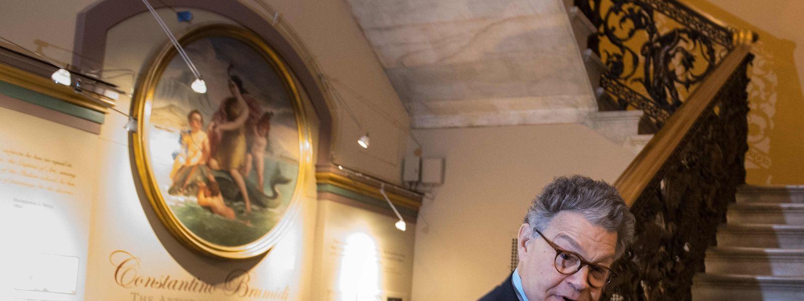 Senator Al Franken am Donnerstag bei seiner Ankunft im Kapitol.