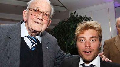 Zwei Sieger: Bim Diederich (1949) und Matteo Carrara (2010, r.).