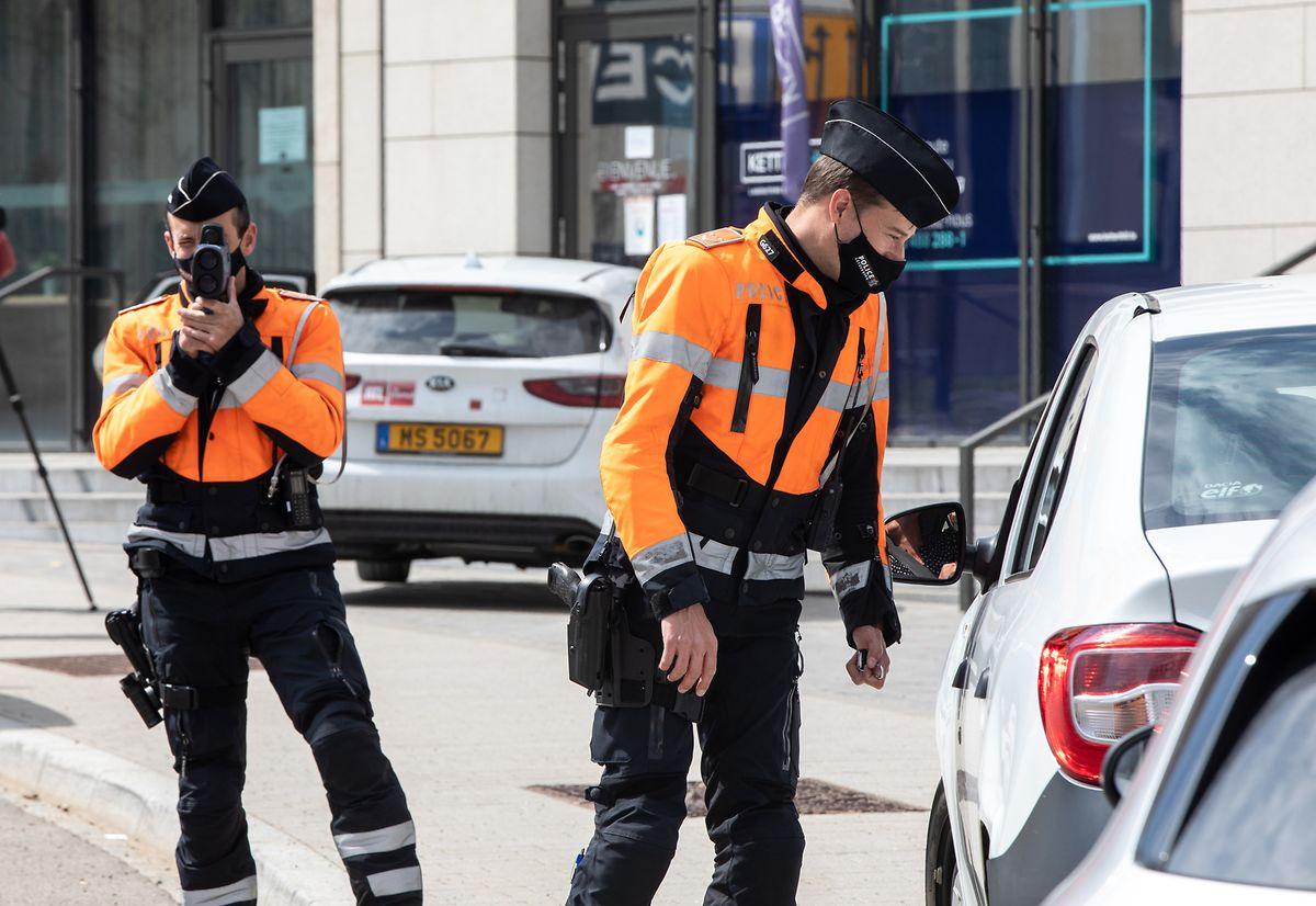 Die Polizisten stellten am Boulevard de Kockelscheuer zahlreiche Verstöße fest.
