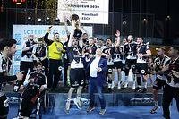Handball Endspiel des Handballpokals der Männer zwischen dem HB Esch und dem HC Berchem in der Coque am 29.02.2020 Freude beim HB Esch nach dem Sieg