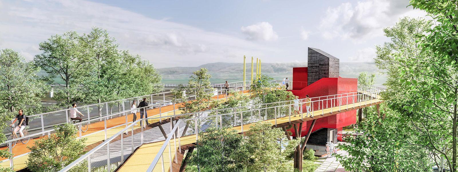 La nouvelle piste offrira un nouveau point de vue sur le quartier de Belval.