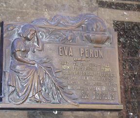 Graf vum Evita Peron um Kierfecht La Recoleta zu Buenos Aires