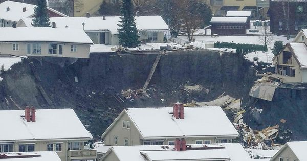 """Katastrophe"": Vermisste nach großem Erdrutsch in Norwegen"