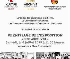 L'EXPOSITION « NOS ARCHIVES »