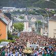 Lokales, Pilgern zum Sanktuarium der ''Notre dame de Fatima'' in Wiltz, Foto: Lex Kleren/Luxemburger Wort