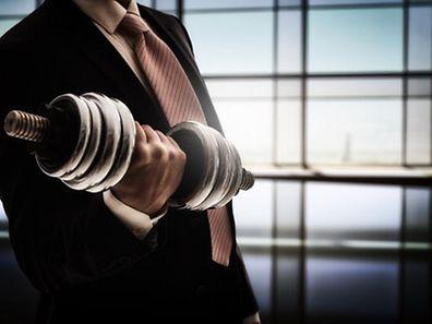 Shutterstock, Gewichtheben, Anzug, Arbeit, Fitness