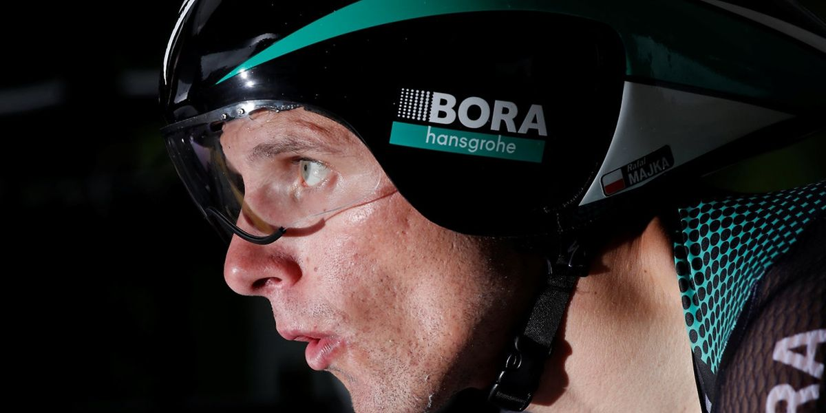 Cycling - The 104th Tour de France cycling race - The 14-km (8.7 miles) individual time-trial Stage 1 - Duesseldorf, Germany - July 1, 2017 - Bora-Hansgrohe rider Rafal Majka of Poland starts the stage. REUTERS/Benoit Tessier