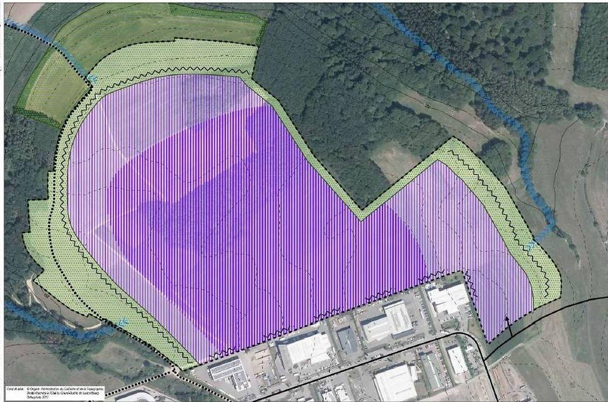 Auf der violetten Fläche soll das Datacenter entstehen.
