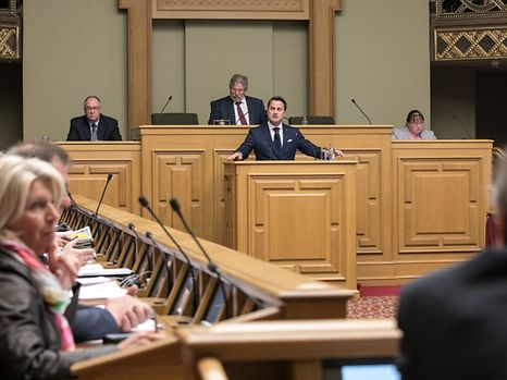 Prime Minister Bettel during the 'state of the nation' speech on Tuesday.