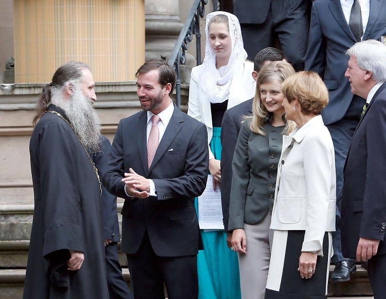 Le prêtre Alexandre Zaitsev reçoit Guillaume et Stéphanie